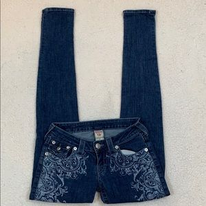 True Religion Low Rise Skinny Jeans  Size 25